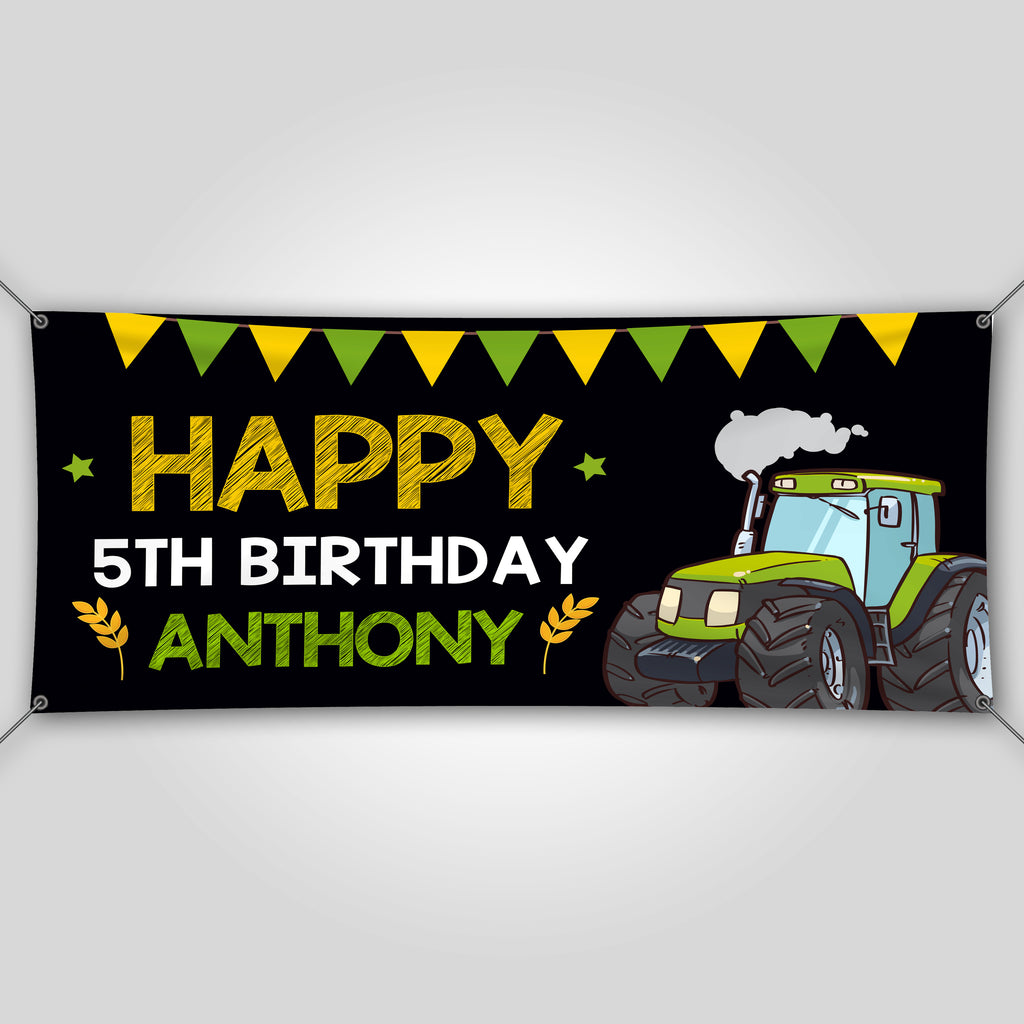 Tractor Birthday Banner