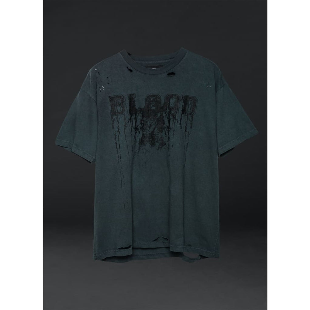 BLACK BLOOD HEAVY TEE - S - PHYSICAL