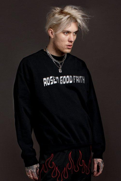OVERSIZED REFLECTIVE CREWNECK - roseingoodfaithx - PHYSICAL - ROSE IN GOOD FAITH