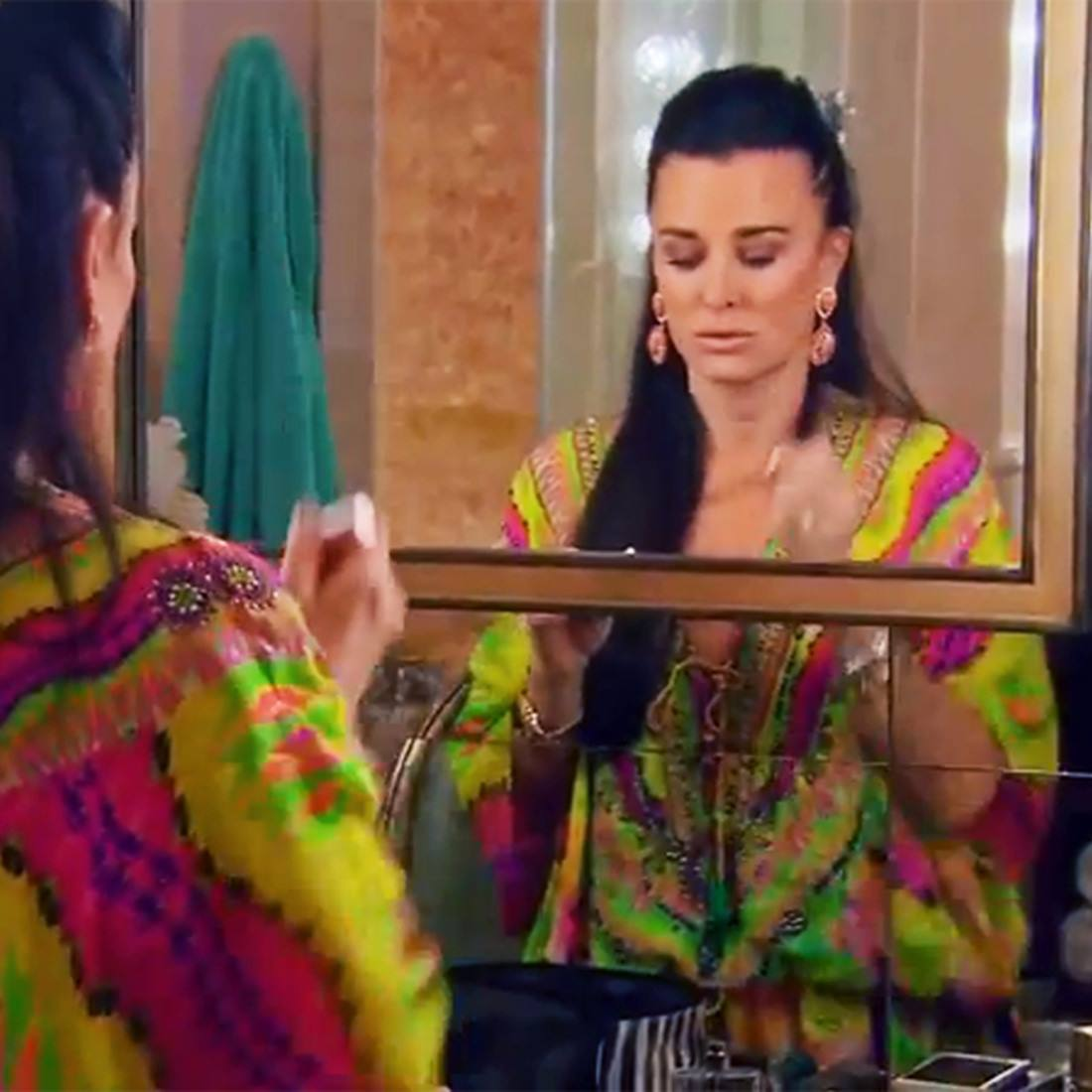 RHOBH star Kyle Richards Kaftan from Shahida Parides