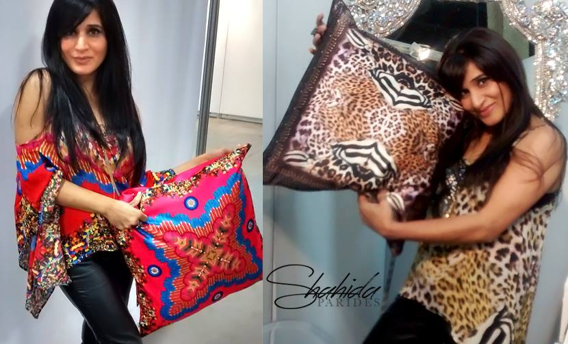 Shahida Parides spotted modeling for her upcoming Pillow Collection