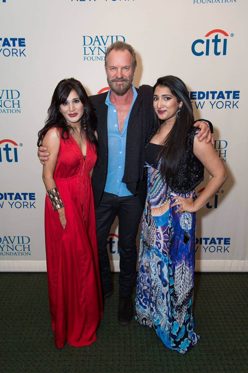 Shahida Parides with Katy Perry and Sting