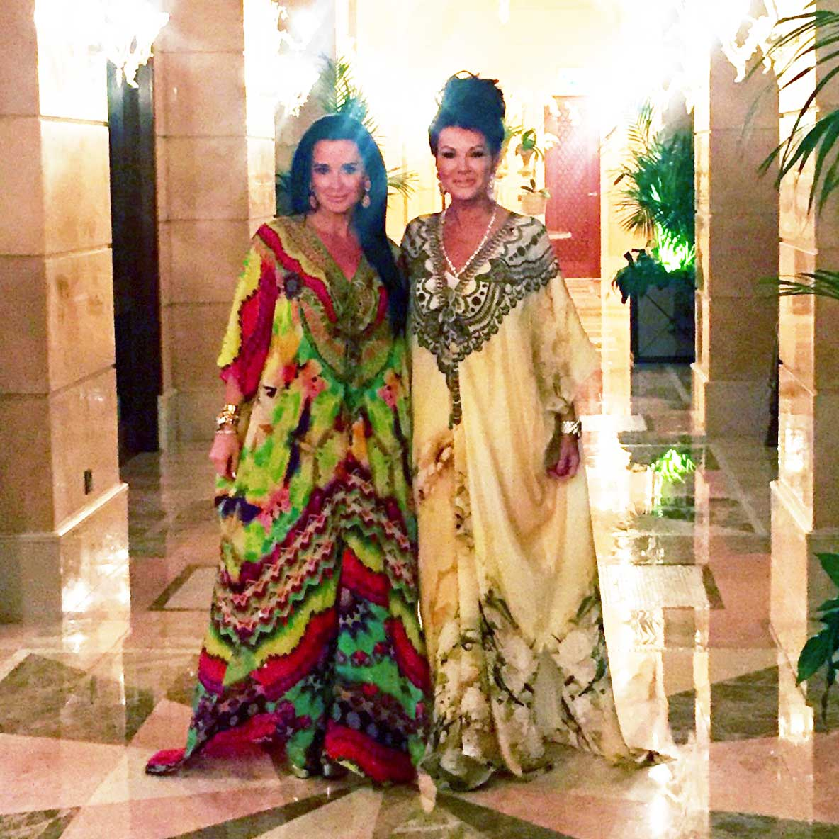 Kyle Richards and Lisa Vanderpump in Shahida Parides on the Real Housewives of Beverly Hills