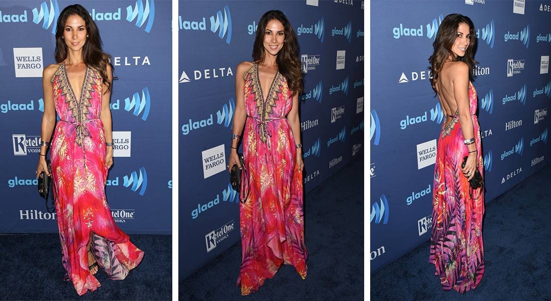 Leilani Dowding on the red carpet at GLAAD Media Awards