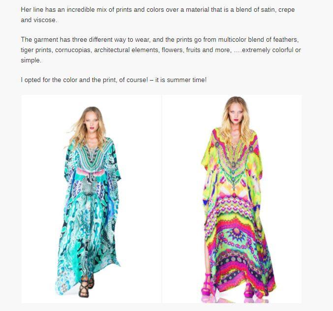 Style expert, Oscar De Las Salas, talks about the history of the kaftan and how Shahida Parides has made the traditional garments into one his favorites modern pieces.