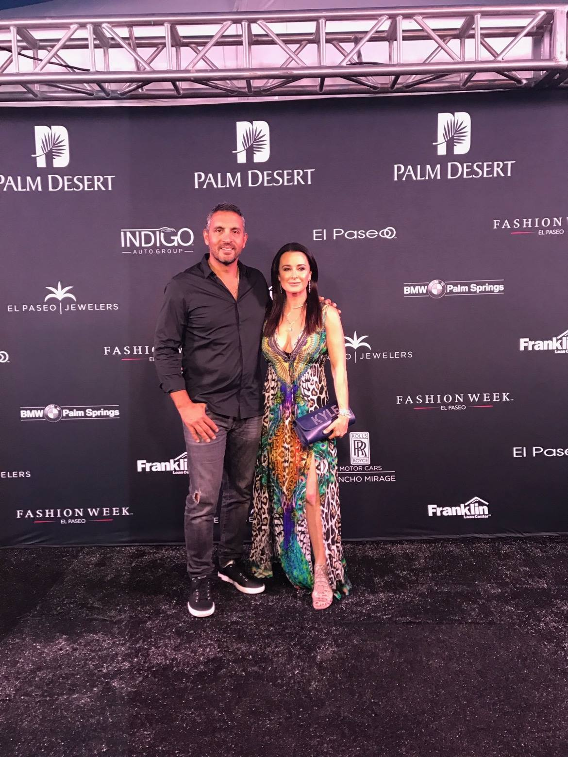 The Real Housewives of Beverly Hills Kyle Richards at El Paseo Fashion Week 2017