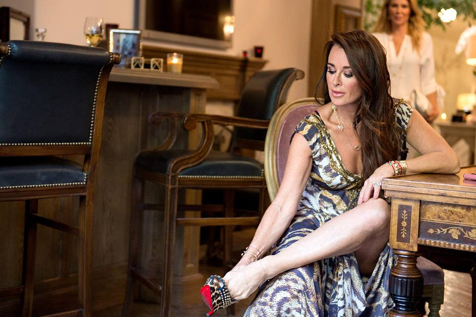 Kyle Richards of the Real Housewives of Beverly Hills in Shahida Parides