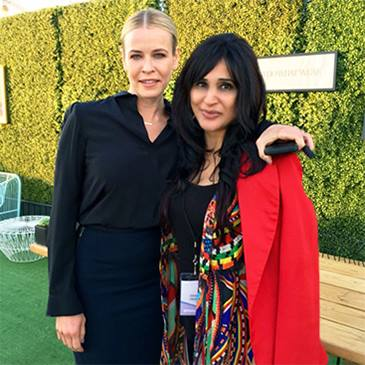 Shahida with Chelsea Handler at Create & Cultivate LA 2016