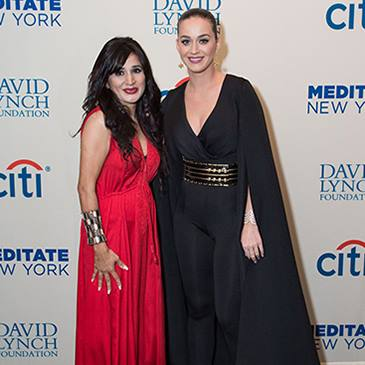 Shahida with Katy Perry at the David Lynch Foundation Benefit Concert 2015