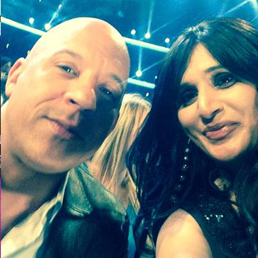shahida with vin diesel at people's choice awards