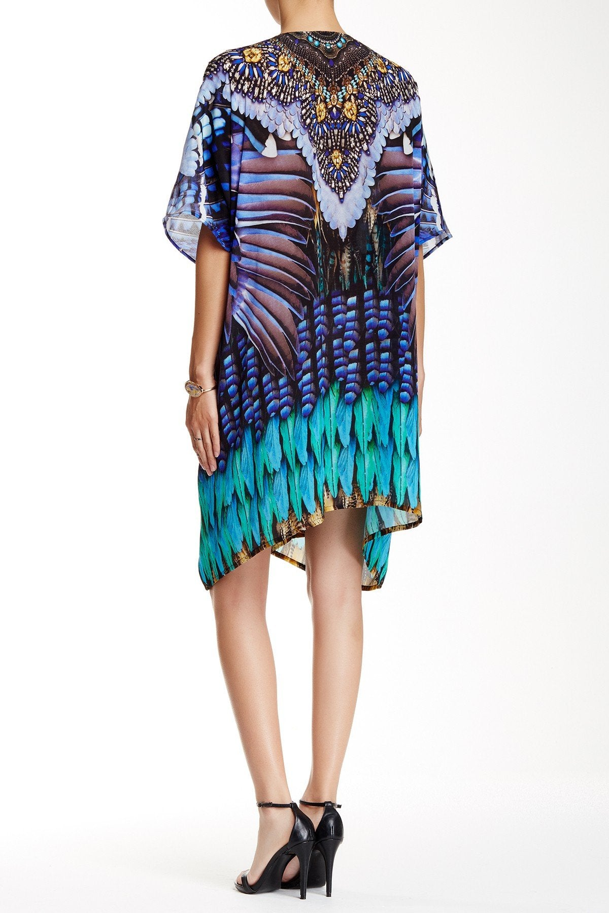 Blue Multiway Short Kaftan