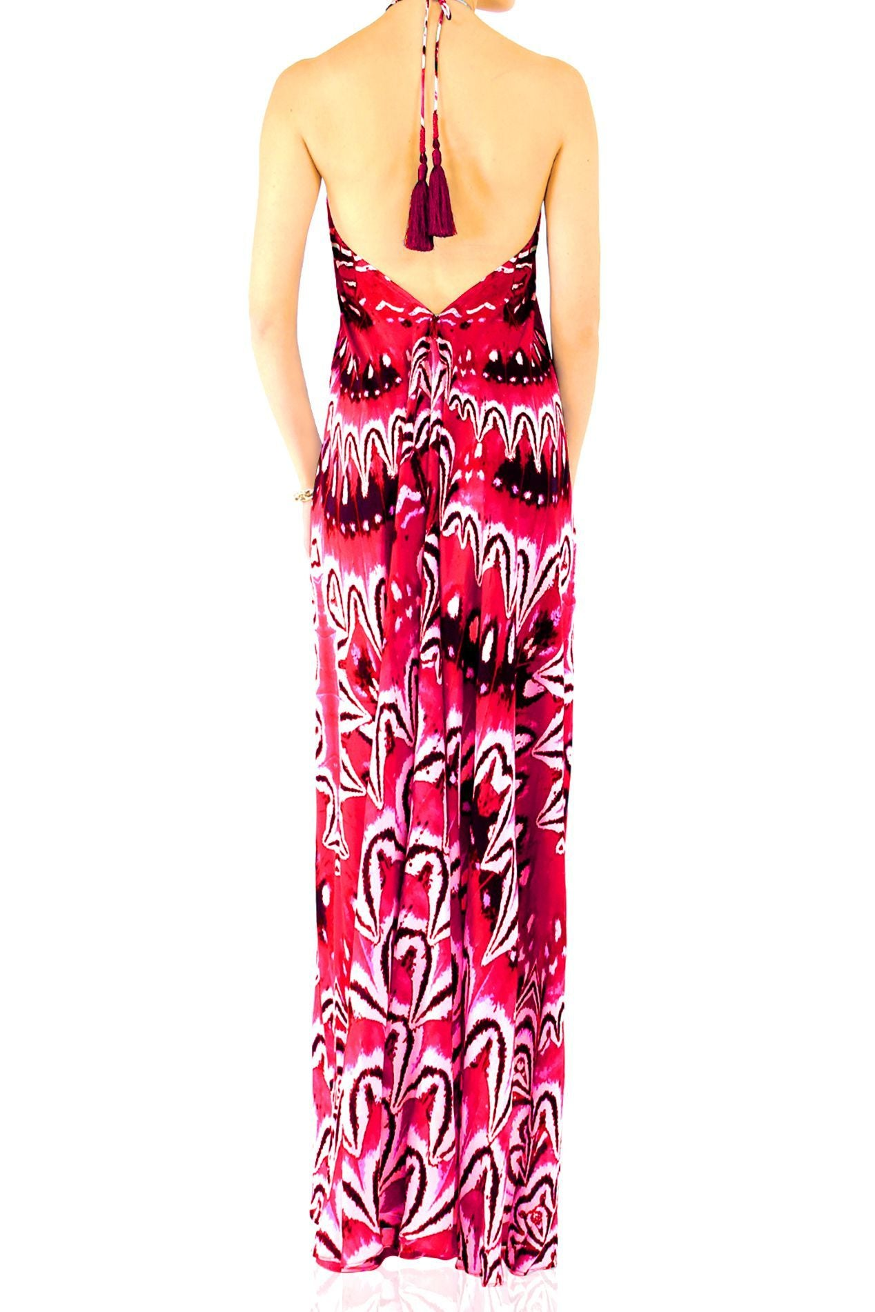 Infinity Maxi Dress Fuchsia