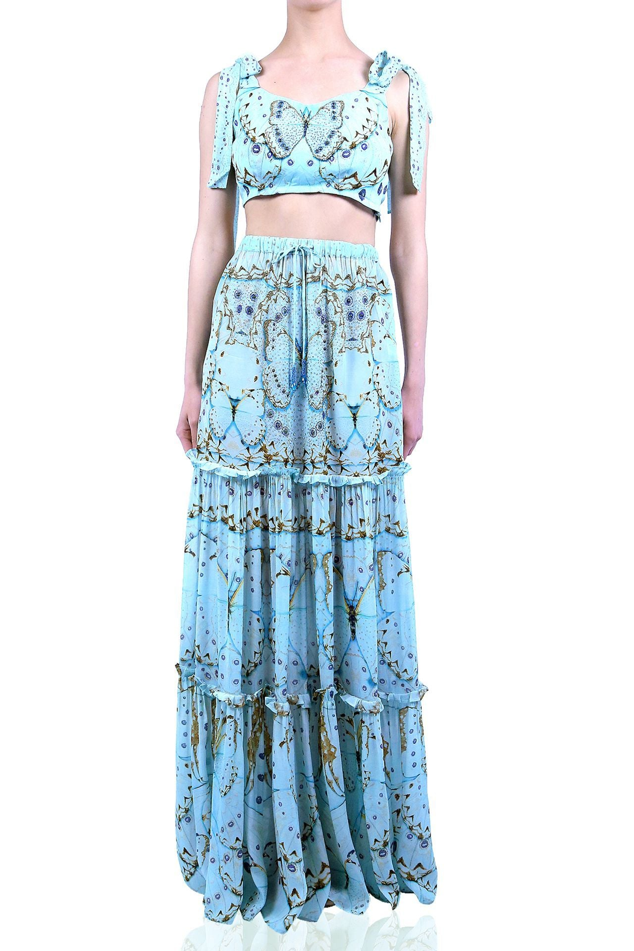 Tier Maxi Skirt Long