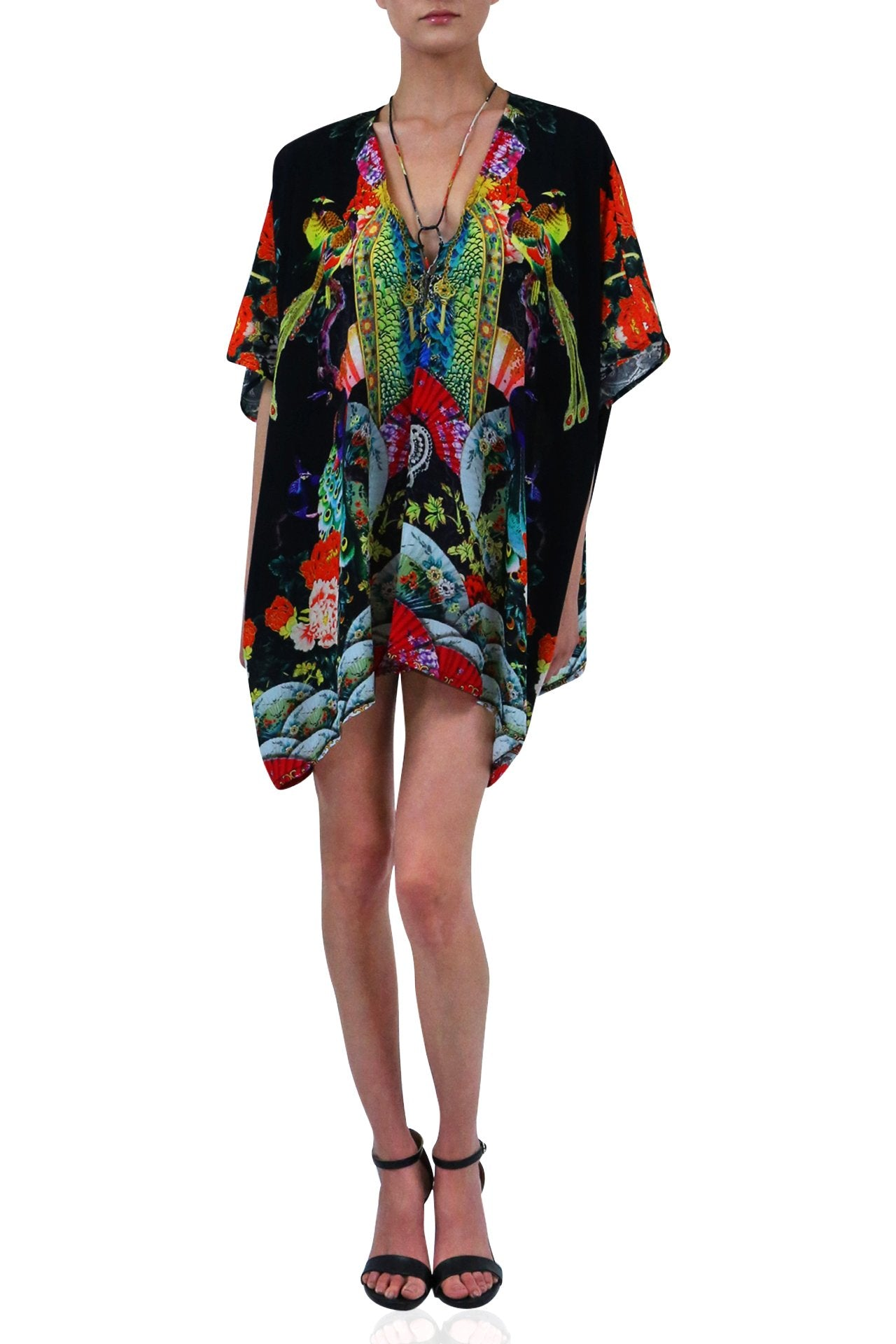 Kaftan Short Dress Printed