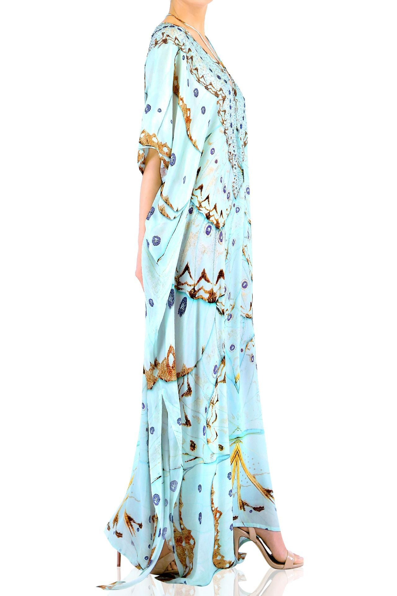 V-Neck Kaftan Dress