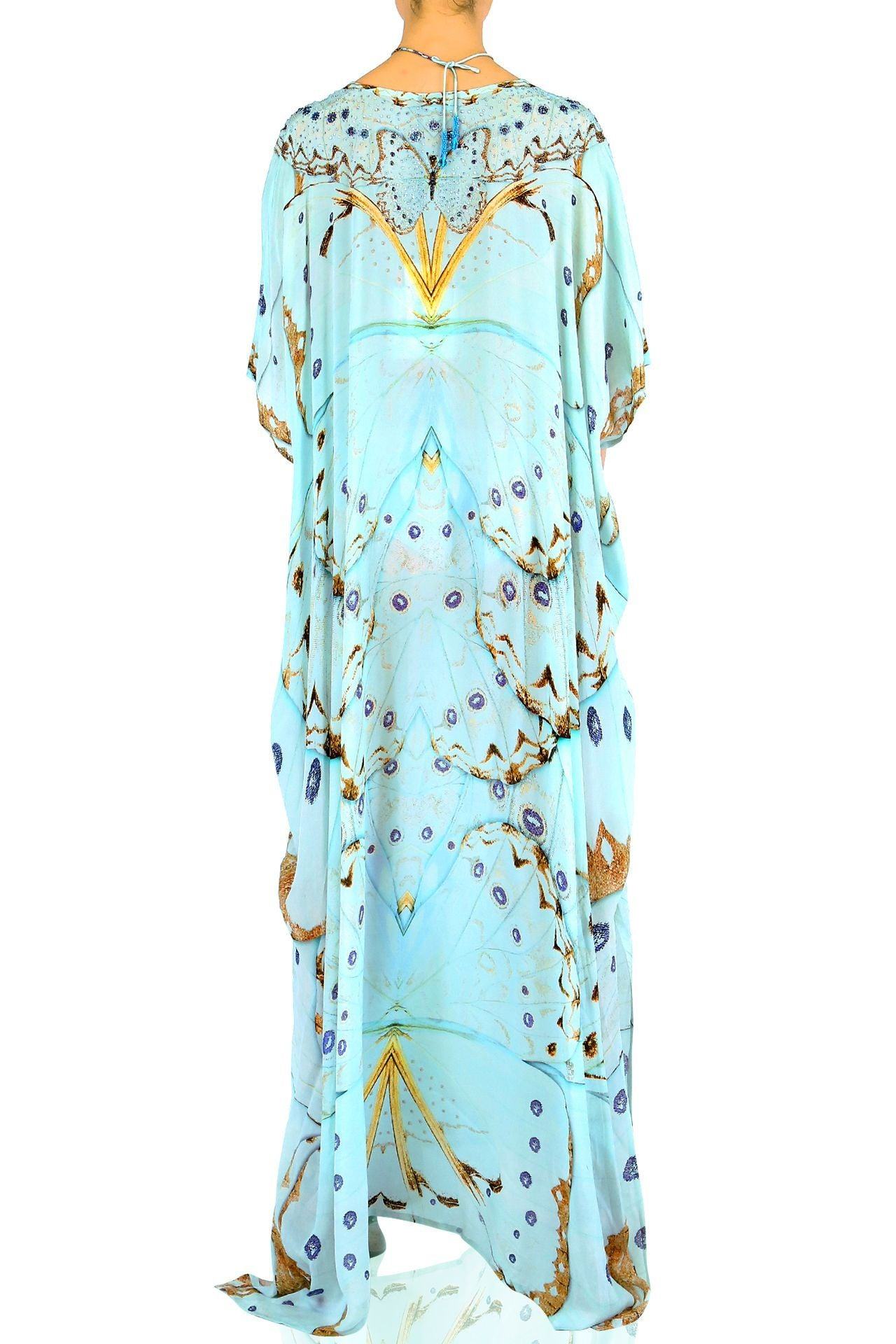 V-Neck Kaftan in Mint