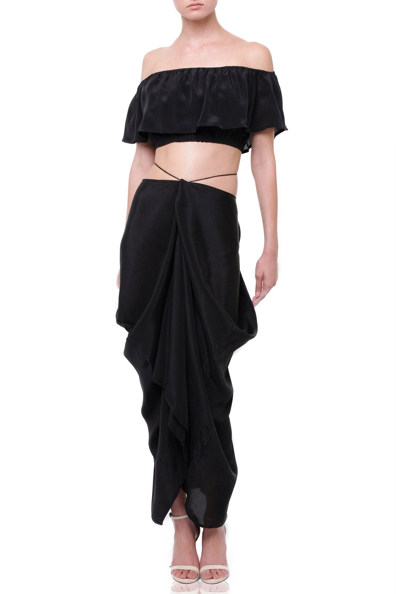 Silk-Long-Designer-Black-Crop-Top