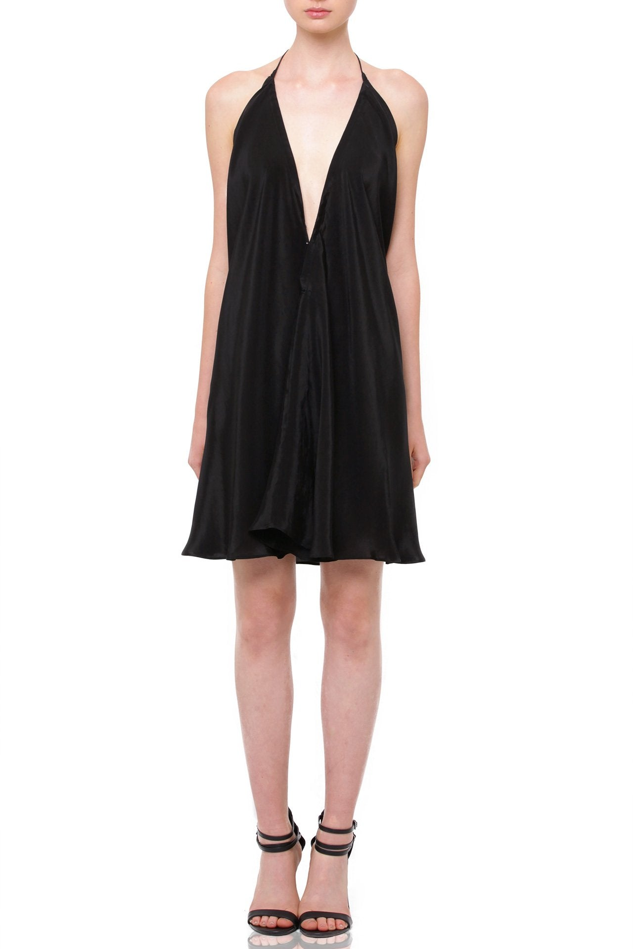 Silk-Multi-Wear-Mini-Dress-In-Black
