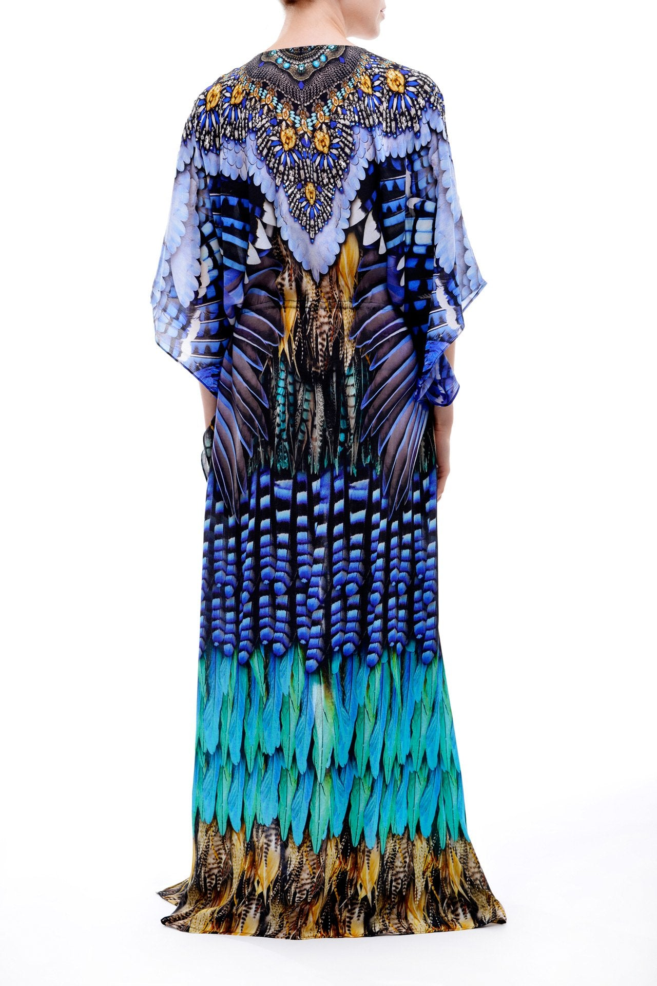 Multi-wear Long Kaftan Blue