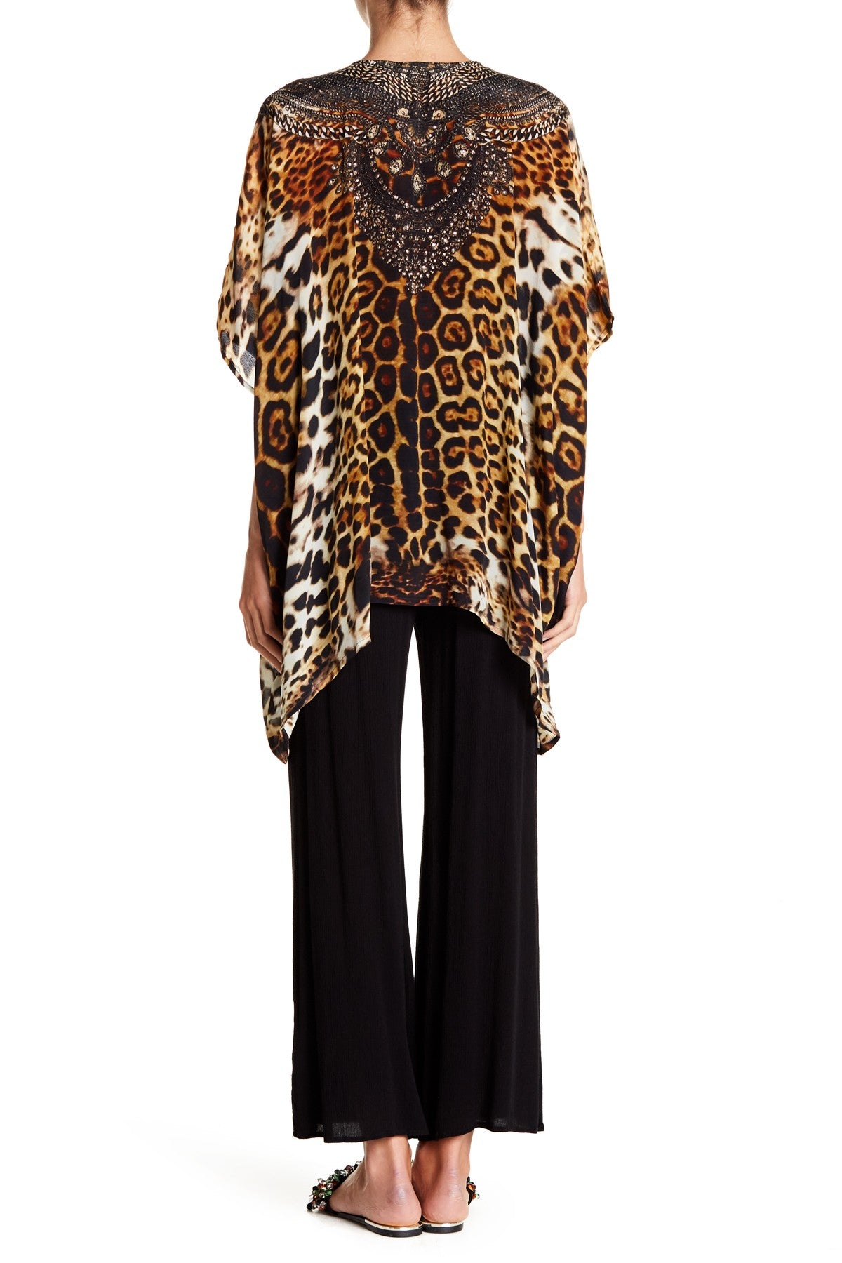 Animal print caftan tops