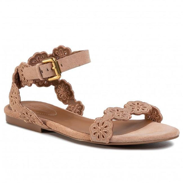See by Chloé Open Toe Eyelet Cutout Sandal
