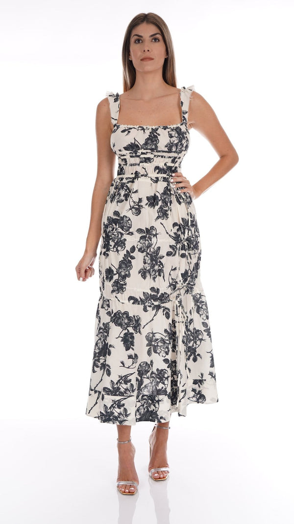 Brock Collection - Prisca Floral Cotton Midi Dress