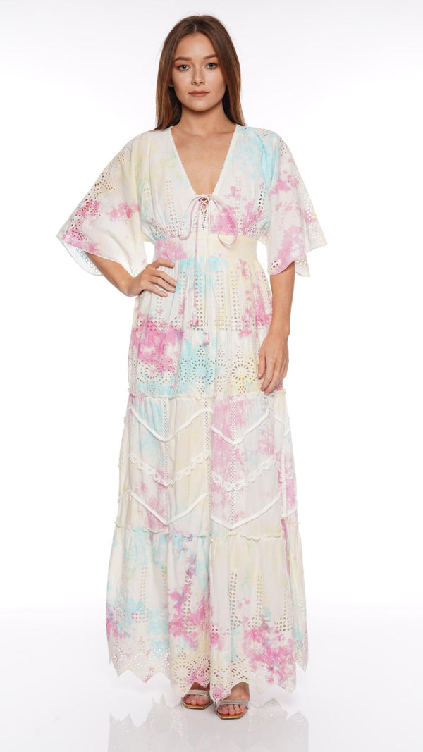 Hemant and Nandita - Amara Pastel Tie Dye Maxi Dress