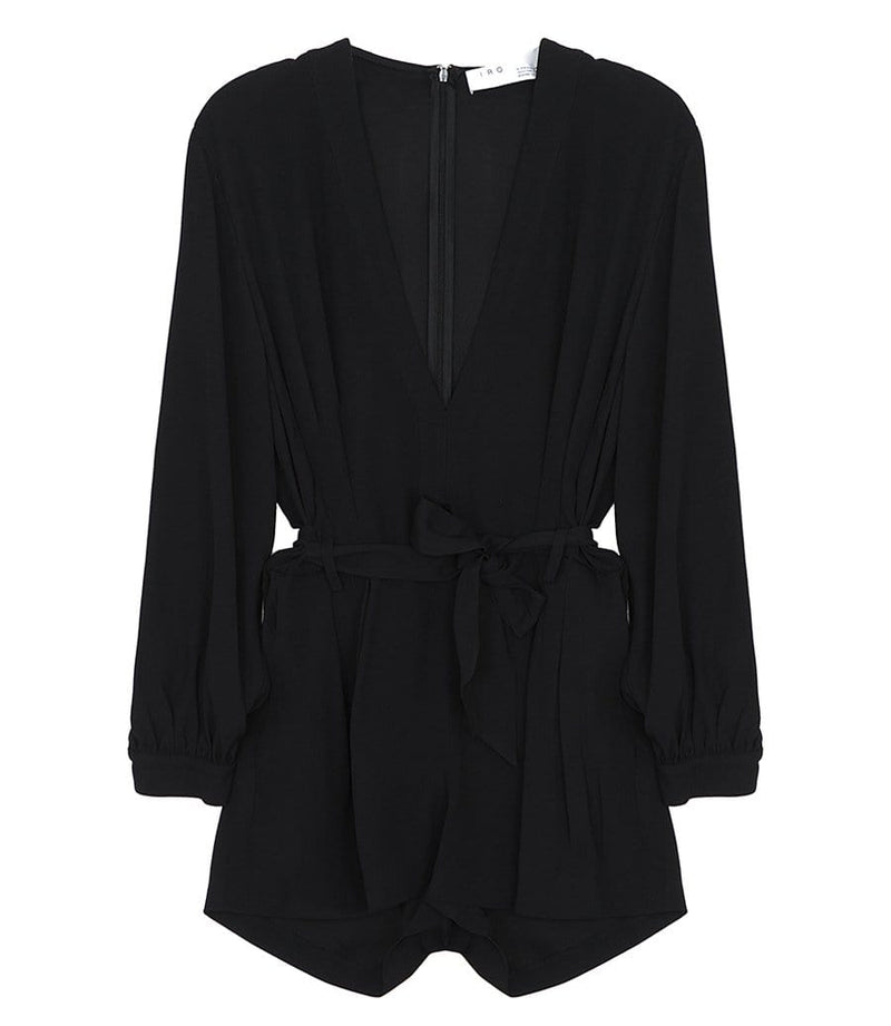 Sullana Black Long Sleeve Playsuit