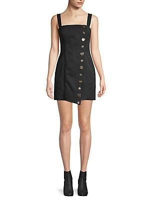 Finders Keepers - Tia Button Mini Dress
