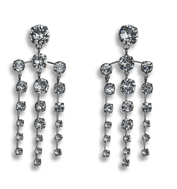 Jennifer Behr - Aida Black Diamond Chandelier Earrings