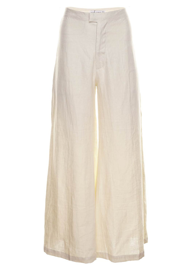 Faithfull The Brand Duda Linen Wide-Leg Pants