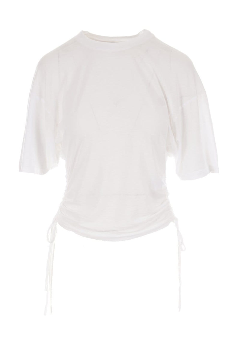 IRO Palomy White Side Tie Tee