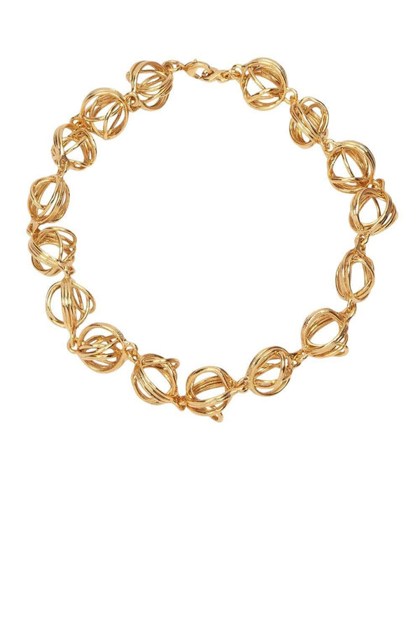Jennifer Behr Kellis Spherical Gold Chain Necklace