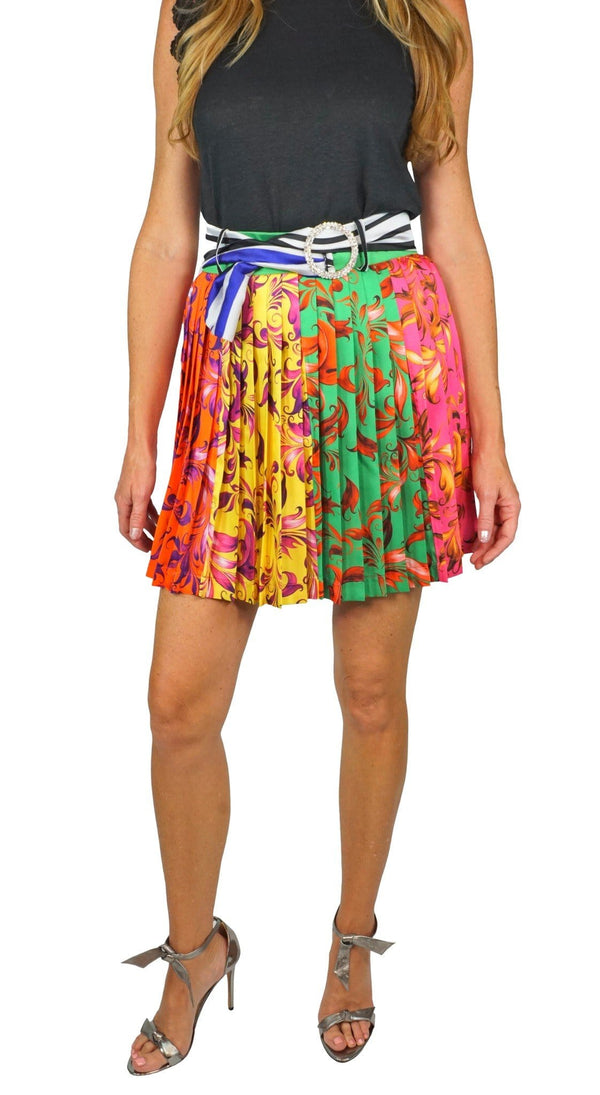 DELFI - Multi Print Pleated Skirt