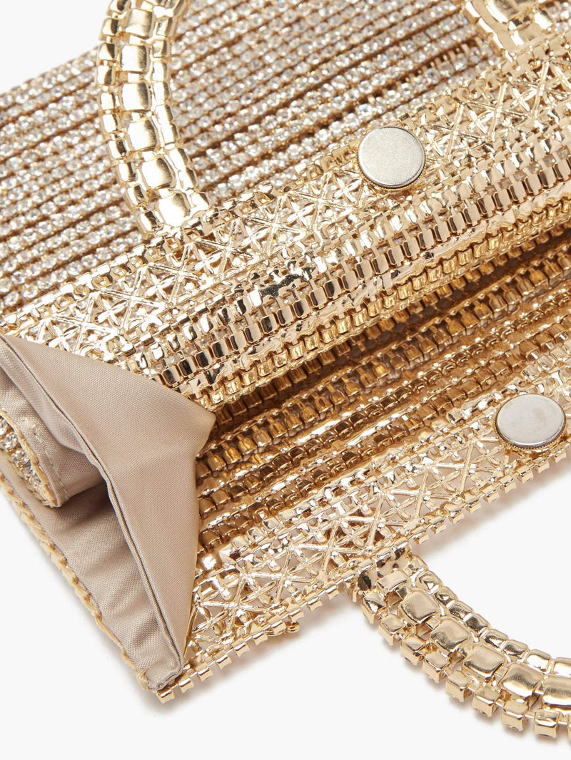 ROSANTICA Teodora Bag With Crystals and Crossbody Chain