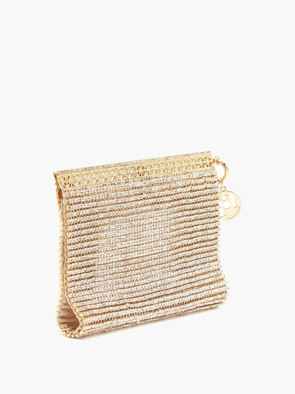 ROSANTICA - Melissa Wristlet Bag With Crystals
