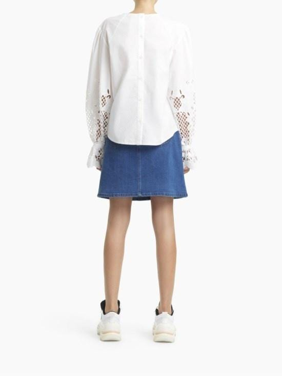 See by Chloé - Pouf Sleeve Cut Out Blouse