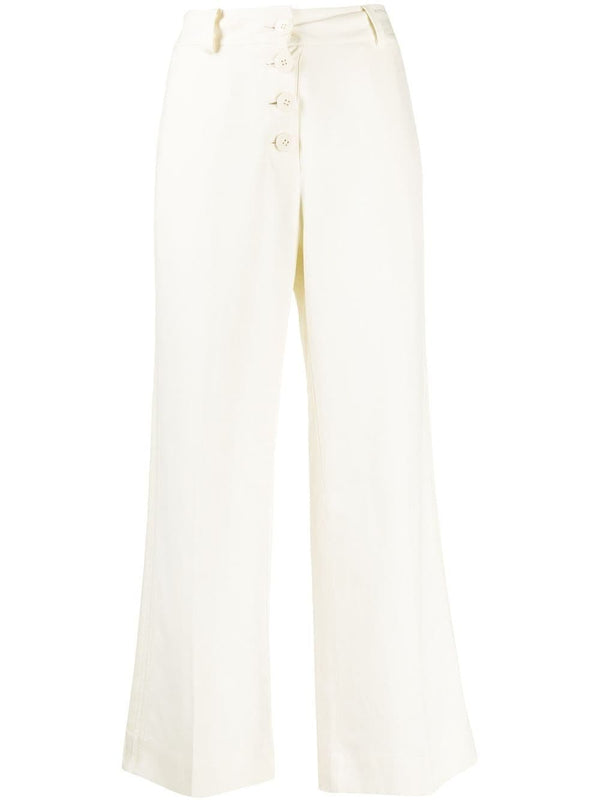 Derek Lam 10 Crosby Ema Culotte With Tuxedo Stripe