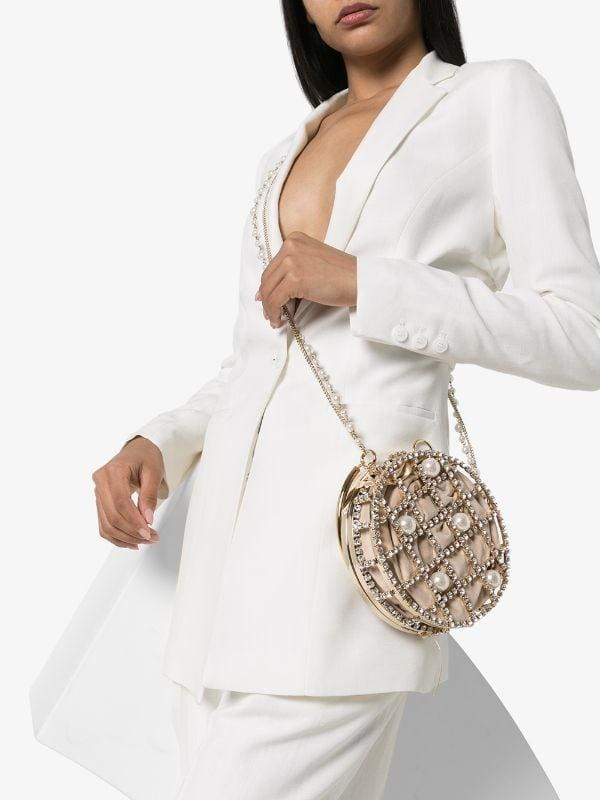 Ines Crystal Pearl Circle Bag