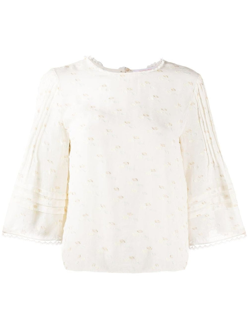 See by Chloé Embroidered Shift Blouse