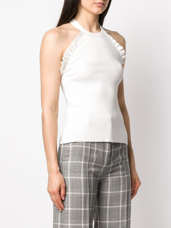 See by Chloé Ruffle Trim Halter Top