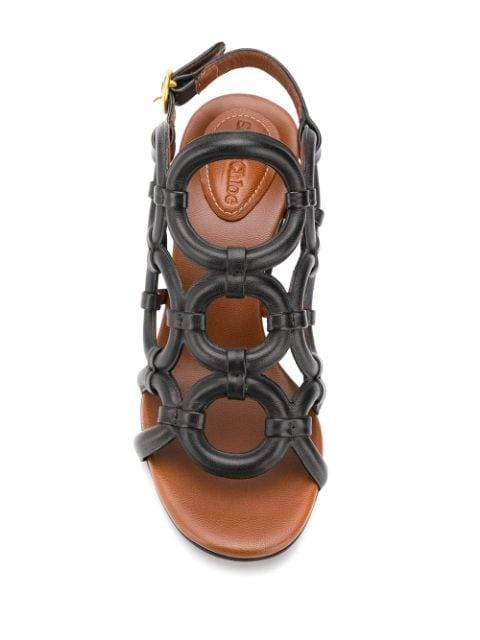 See by Chloé - Leather Geometric Sandal