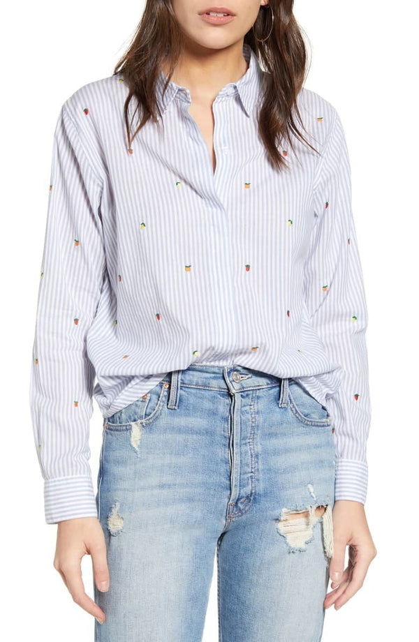RAILS - Taylor Citrus Embroidered Shirt