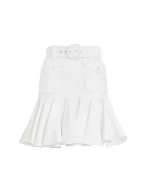 Super Eight Linen Safari Skirt