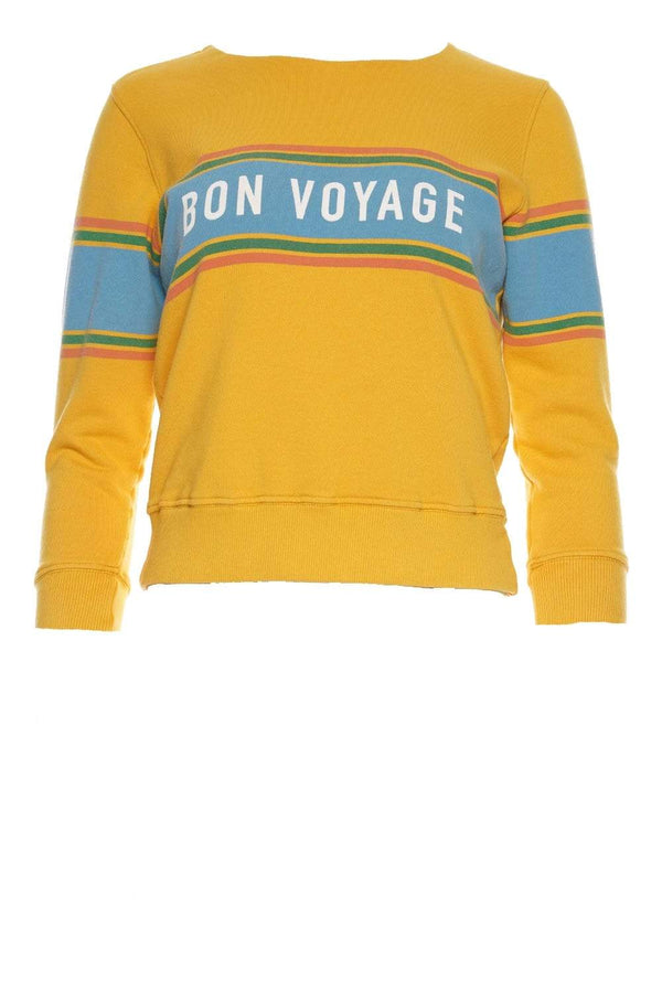 Koozie Bon Voyage Stripe Cotton Sweatshirt