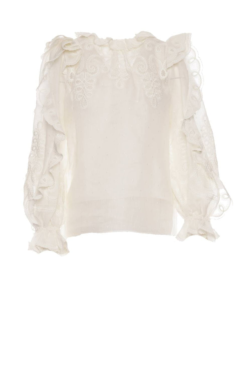 ZIMMERMANN - The Lovestruck Embroidered Rope Blouse