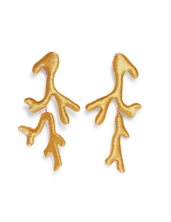 REBECCA DE RAVENEL Coraline Gold Earrings