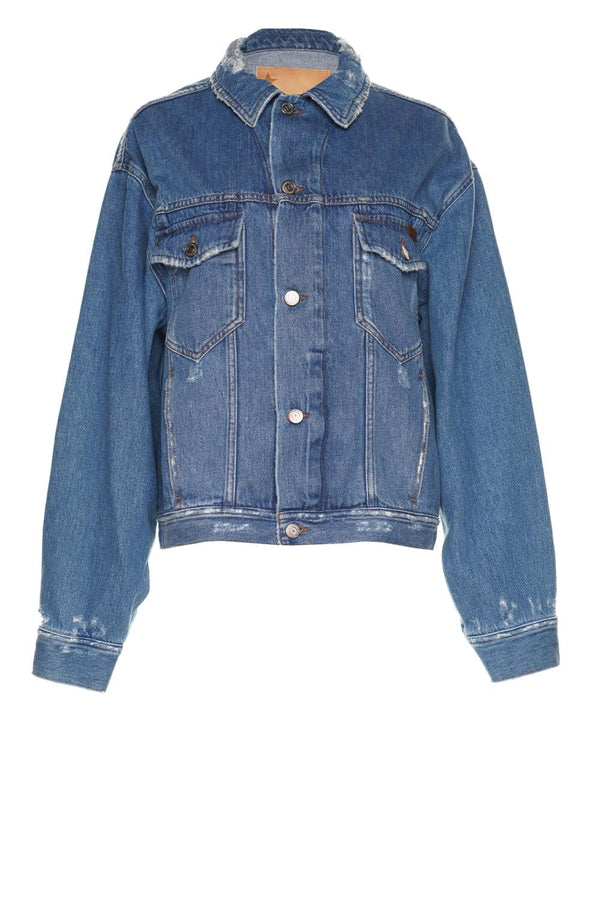 Golden Goose Babette 'Do What You Love' Denim Jacket