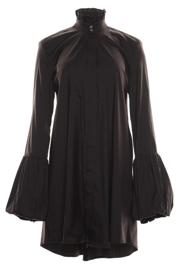 Scarlette Black Balloon Sleeve Mini Dress