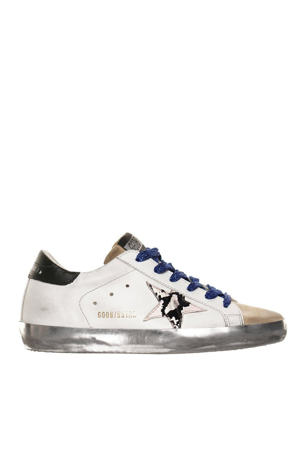 Python Print Star Suede Toe Super-Star Sneakers
